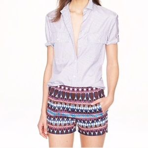 J. Crew Geometric Printed Shorts Size 2